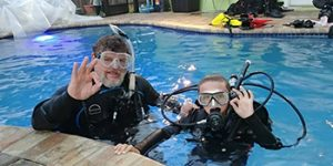 Image of Two People in Water for Discover Scuba - A Diving Program at Adventure Outfitters