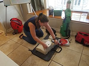 Image of Training During Emergency First Responder Class