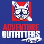 Image of Dive Dog Mascot with Blue Background for South Tampa Dive Center Adventure Outfitters